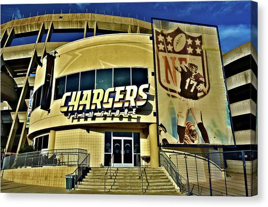 Los Angeles Chargers Canvas Print - Not San Diego by Richard Jenkins