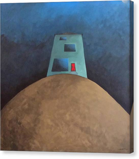 Acrylic On Canvas Print - Not This House by Cynthia Decker