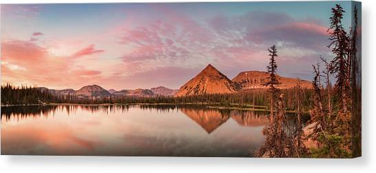 Notch Lake Panorama Canvas Print by Johnny Adolphson