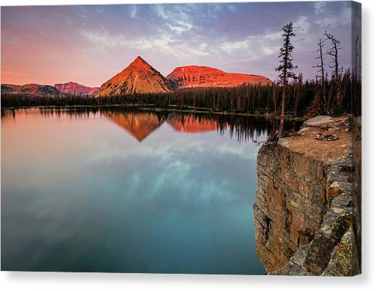 Uinta Canvas Print - Notch Lake Sunset by Johnny Adolphson