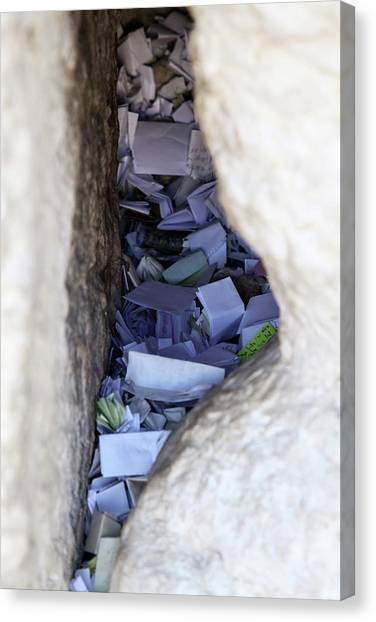 Notes In The Wailing Wall  Canvas Print