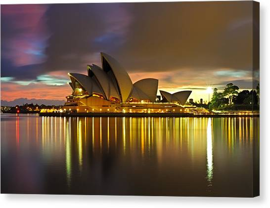 Notes Of The Golden Hour Canvas Print