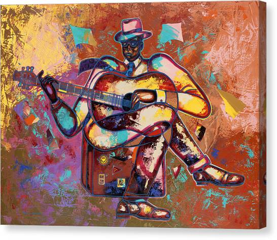 Nothin' But Da Blues Canvas Print by Larry Poncho Brown