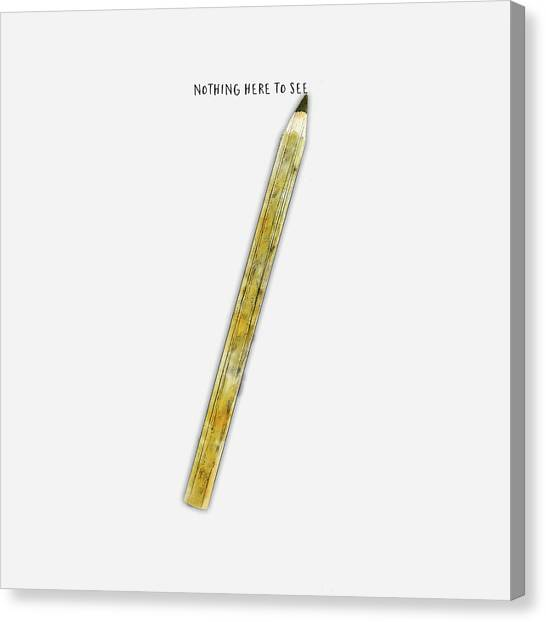 Simplistic Canvas Print - Nothing To See Here by Christina VanGinkel
