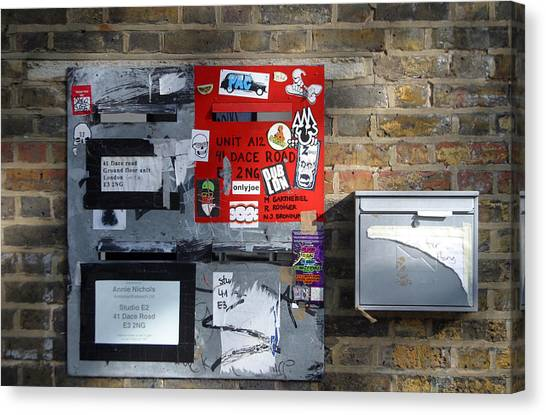 Notice Board For Scrap Canvas Print by Jez C Self
