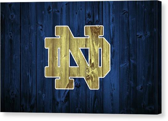 Fighting Canvas Print - Notre Dame Barn Door by Dan Sproul