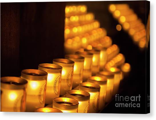 Notre Dame Candles Canvas Print