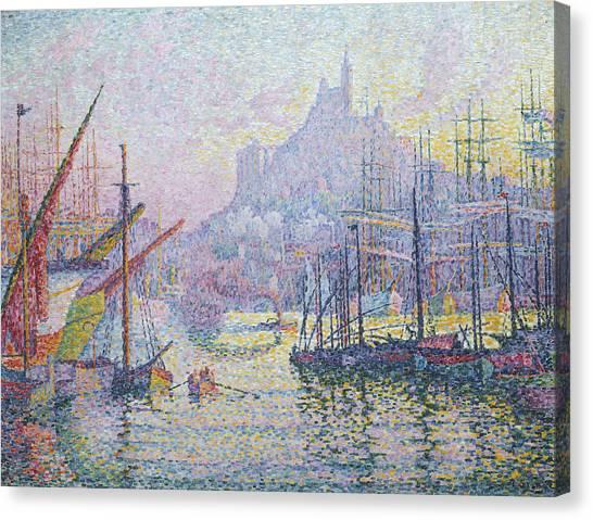 Post-impressionism Canvas Print - Notre-dame-de-la-garde by Paul Signac