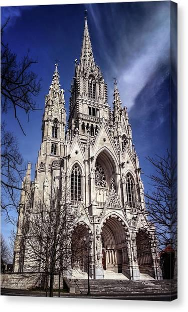 Notre Dame University Canvas Print - Notre Dame De Laeken In Brussels  by Carol Japp