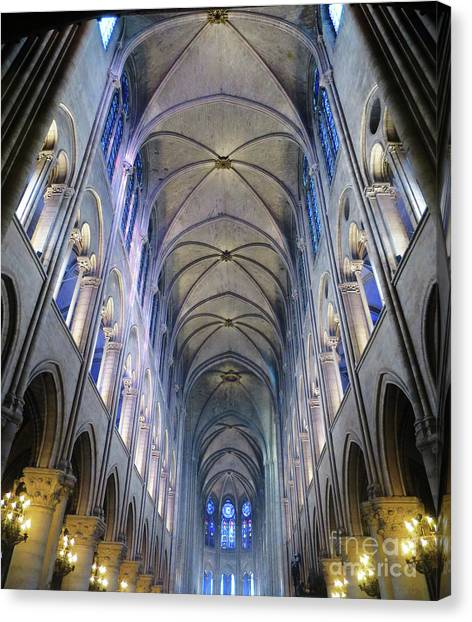 Notre Dame De Paris - A View From The Floor Canvas Print