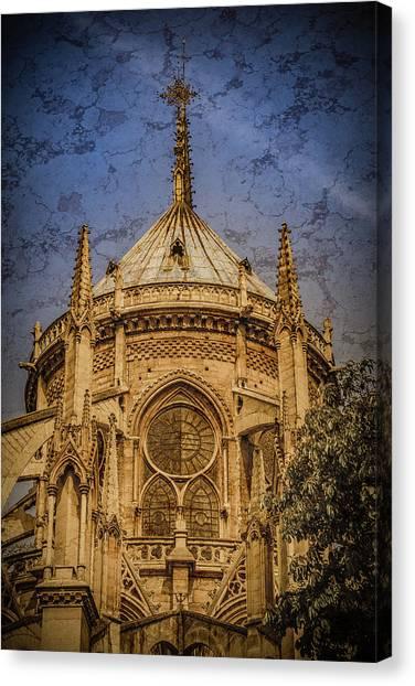Canvas Print featuring the photograph Paris, France - Notre-dame De Paris - Apse by Mark Forte