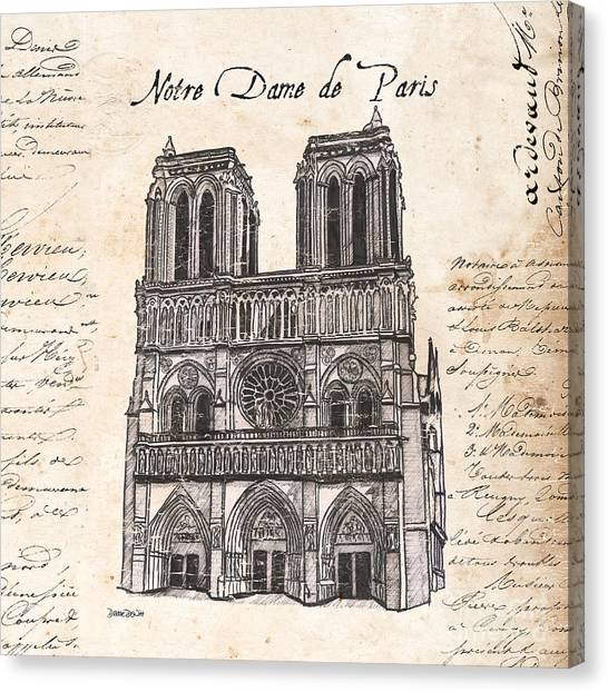 Acc Canvas Print - Notre Dame De Paris by Debbie DeWitt