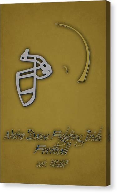 Notre Dame University Canvas Print - Notre Dame Fighting Irish Helmet 2 by Joe Hamilton