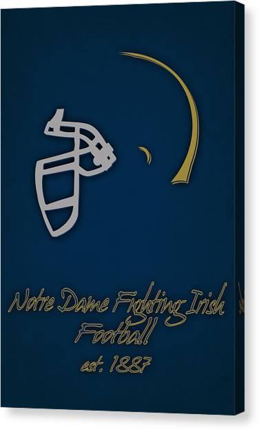 Notre Dame University Canvas Print - Notre Dame Fighting Irish Helmet by Joe Hamilton
