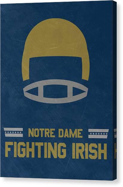 Notre Dame University Canvas Print - Notre Dame Fighting Irish Vintage Football Art by Joe Hamilton