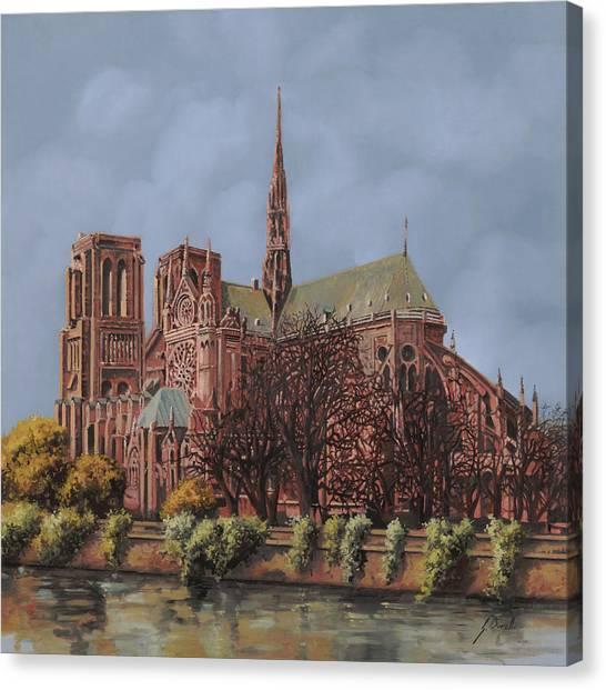 Notre Dame University Canvas Print - Notre-dame by Guido Borelli