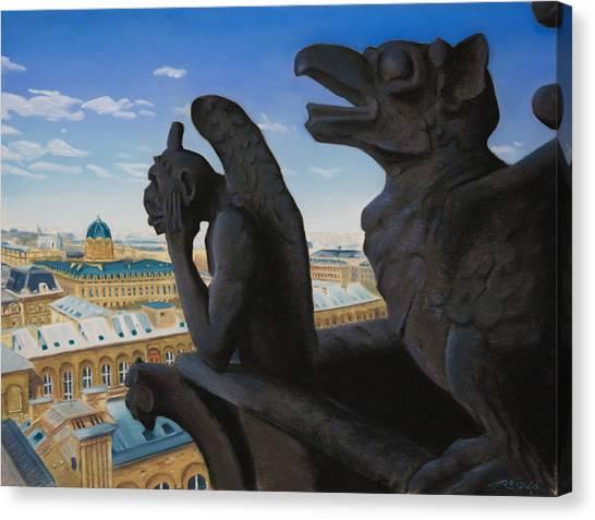Notre Dame View Canvas Print