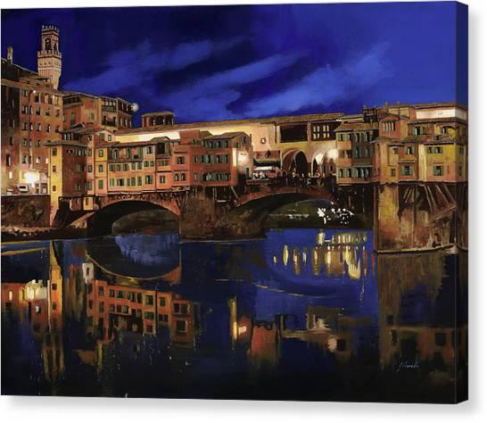 Florence Canvas Print - Notturno Fiorentino by Guido Borelli