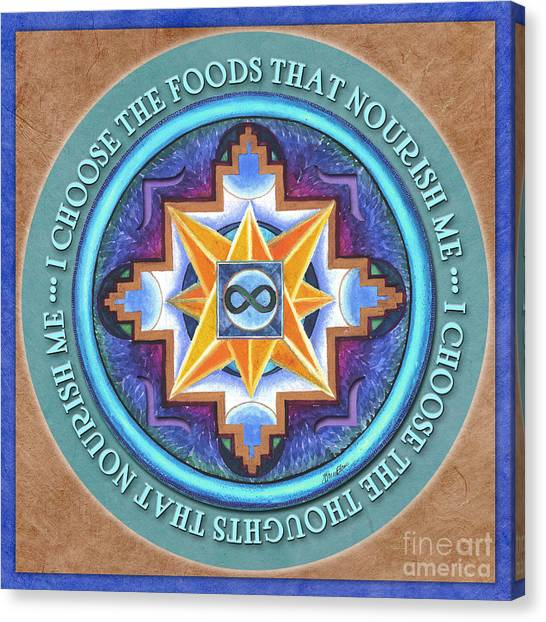 Nourish Mandala Prayer Canvas Print