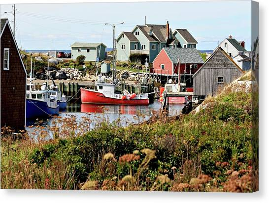 Nova Scotia Fishing Community Canvas Print