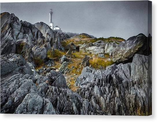Canvas Print featuring the photograph Nova Scotia's Rocky Shore by Garvin Hunter