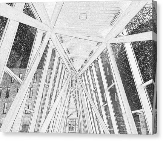 University Of Louisville Canvas Print - Novak Center Bridge 1 by Maxwell Krem