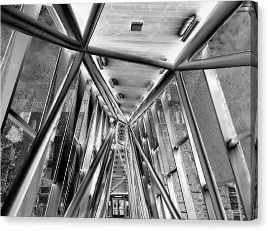 University Of Louisville Canvas Print - Novak Center Bridge 2 by Maxwell Krem