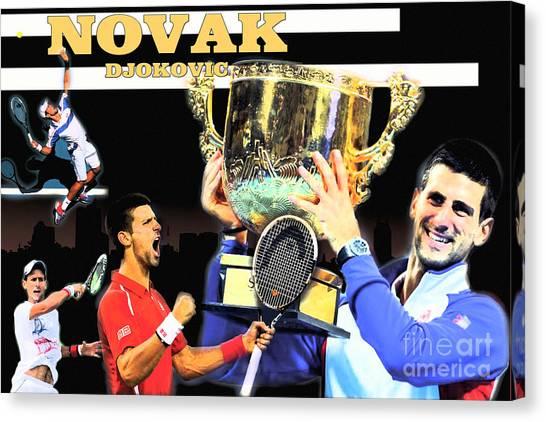 Novak Djokovic Canvas Print - Novak by Christopher Finnicum