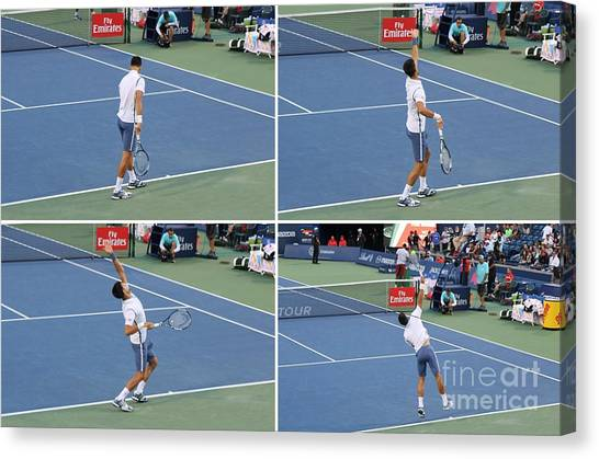 Novak Djokovic Canvas Print - Novak Djokovic by Anthony Djordjevic
