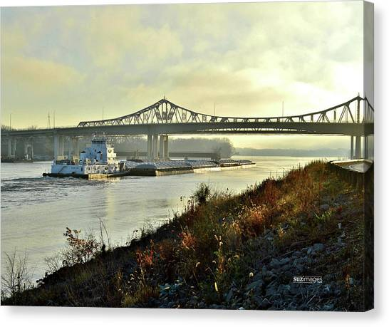 November Barge Canvas Print