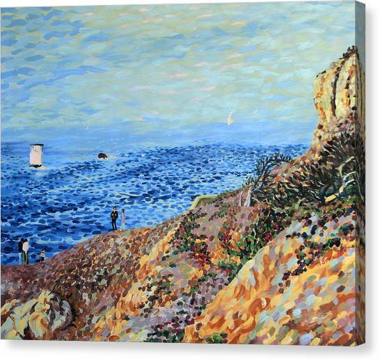 November Day At Point Lobos San Francisco Canvas Print