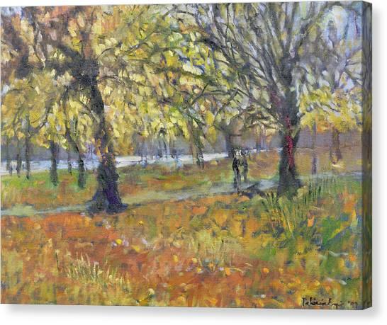 Post-modern Art Canvas Print - November In Hyde Park by Patricia Espir