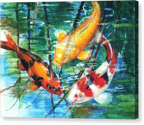 Koi Canvas Print - November Koi by Patricia Allingham Carlson