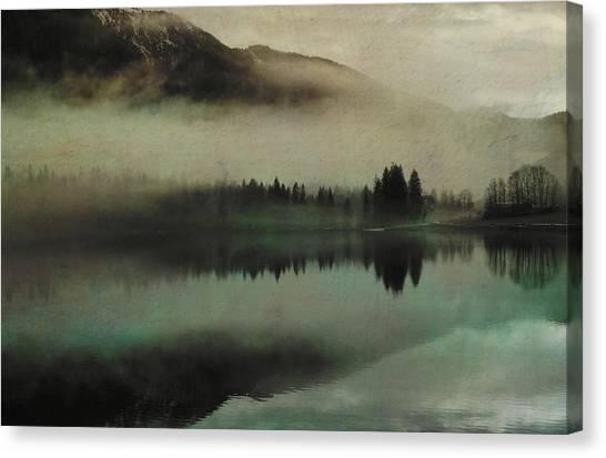 Susann Serfezi Canvas Print - November Lake by AugenWerk Susann Serfezi