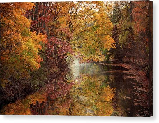 Canvas Print featuring the photograph November Reflections by Jessica Jenney