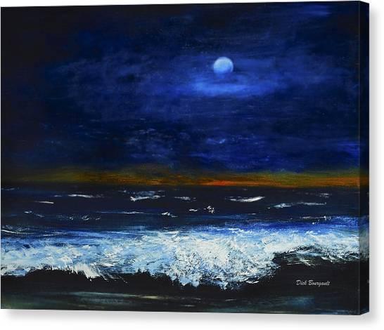 November Sunset At The Beach Canvas Print