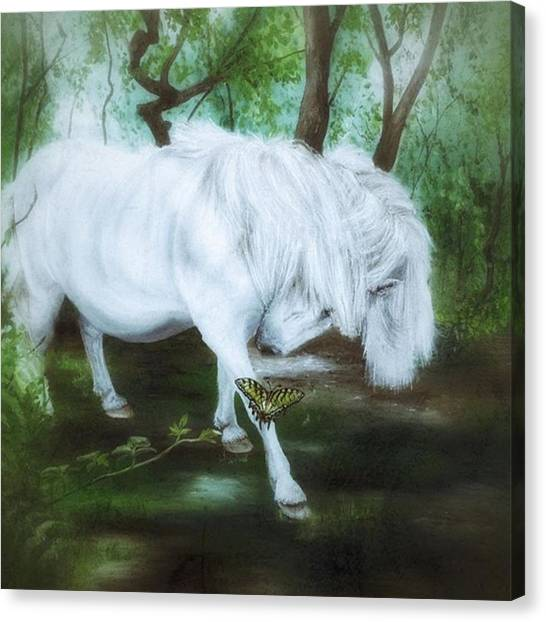 Ponies Canvas Print - Now Available As Prints And Cards On My by Isabella Shores
