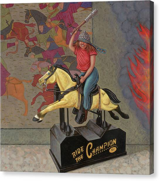 Now We Ride Canvas Print