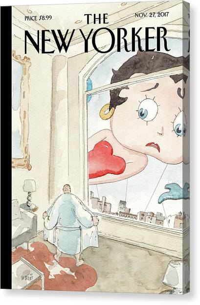 Nowhere To Hide Canvas Print by Barry Blitt