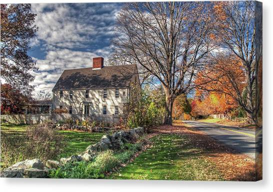 Noyes House In Autumn Canvas Print