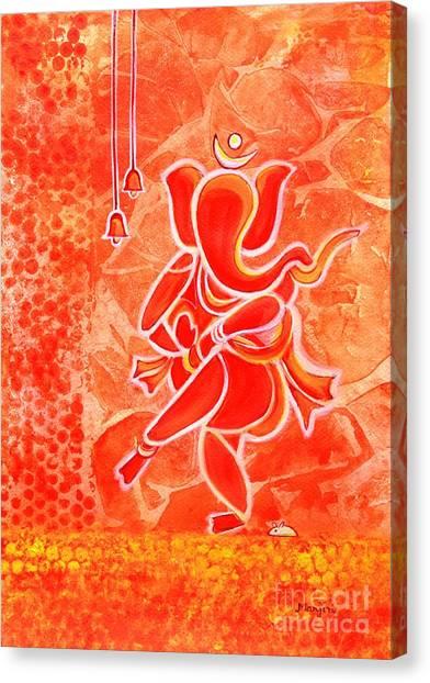 Nritya Ganesha- Dancing God Canvas Print