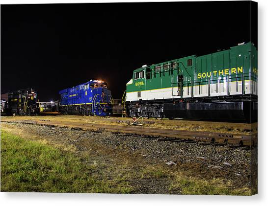 Ns Heritage Locomotives Family Photographs 8103 Night 12 Canvas Print