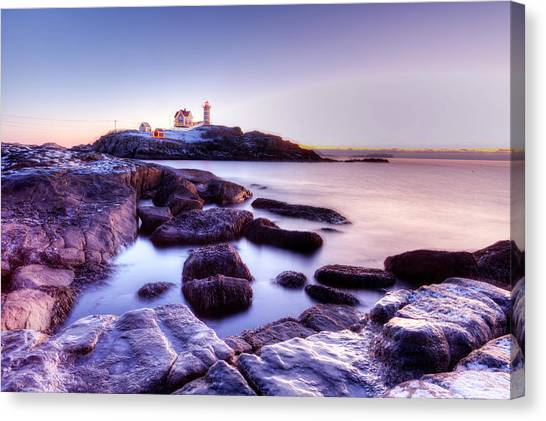 Nubble In The Morning Canvas Print