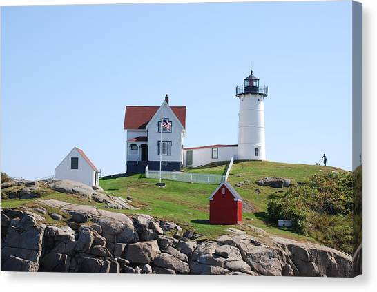 Nubble Light Canvas Print by Armand Hebert