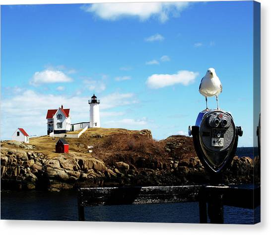 Nubble Light House Canvas Print