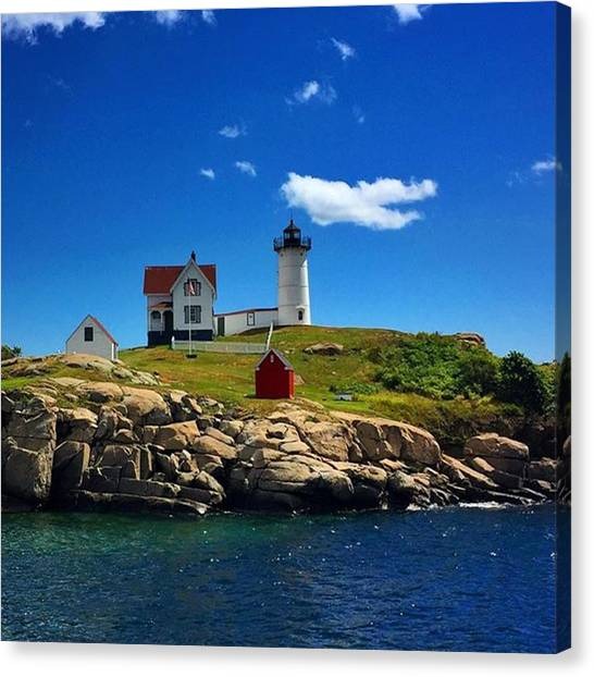 Maine Canvas Print - #nubble #ligthouse #maine #usa by Luisa Azzolini