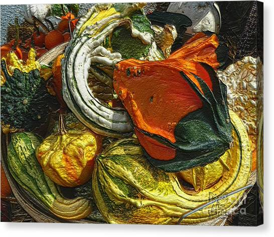Canvas Print featuring the photograph Nubby Squash by Dee Flouton