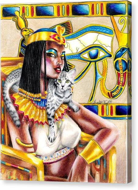 Egyptian Maus Canvas Print - Nubian Queen by Scarlett Royal