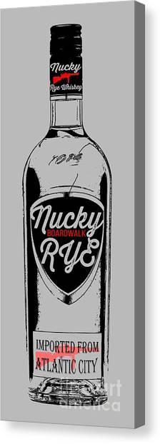 Boardwalk Canvas Print - Nucky Thompson Boardwalk Rye Whiskey Tee by Edward Fielding