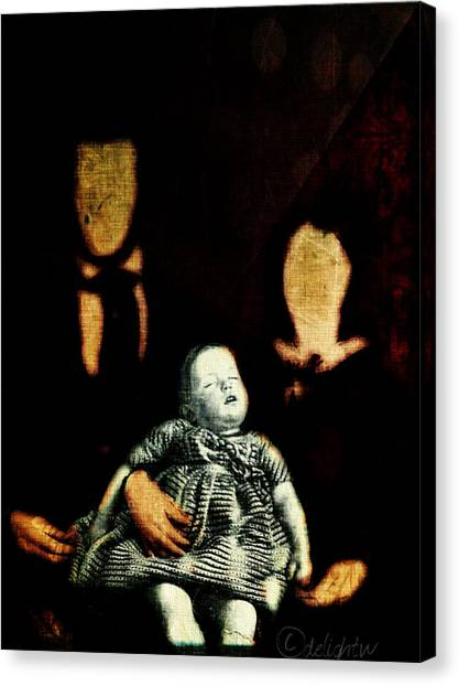 Canvas Print featuring the digital art Nuclear Family by Delight Worthyn